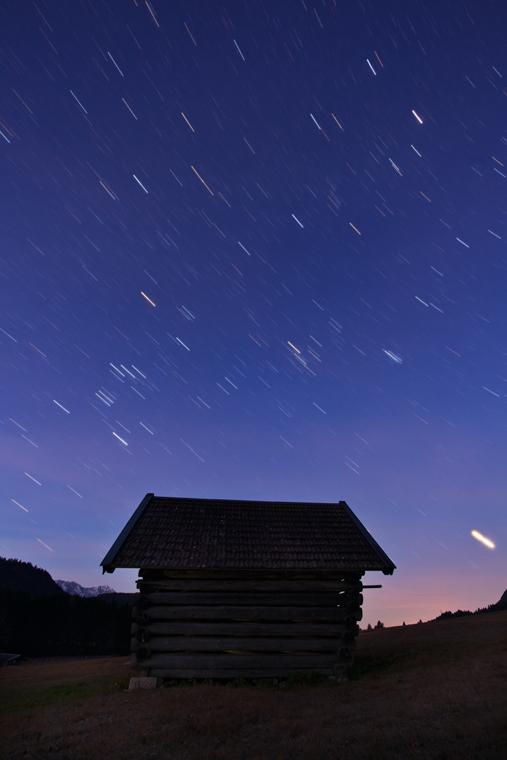 Sternspuren (10min belichtet)
