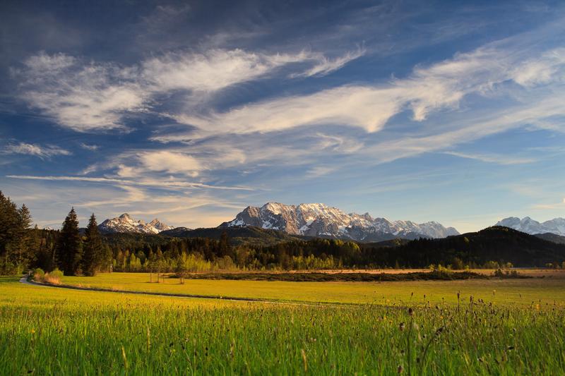 Schönes Wolkenspiel über dem Karwendel