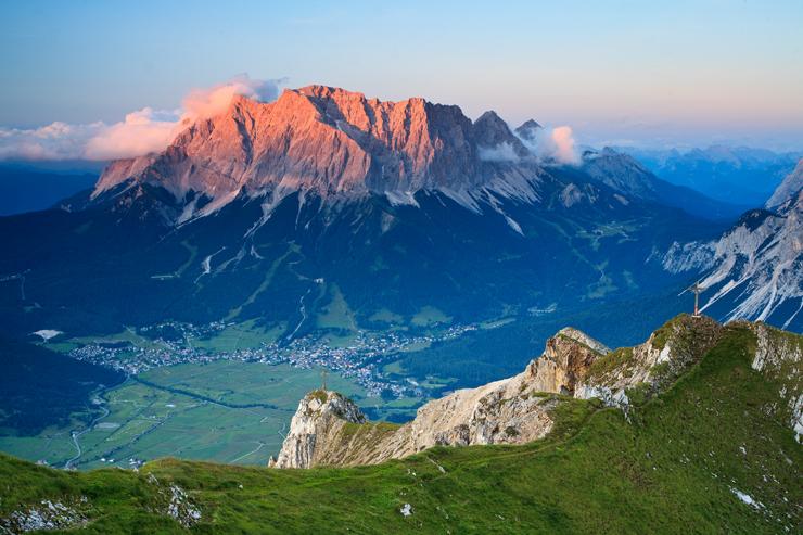 Zugspitze im letzten Licht