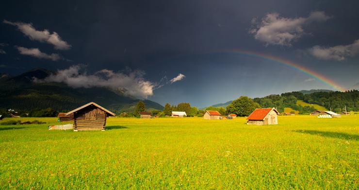Regenbogen überm Kochelberg