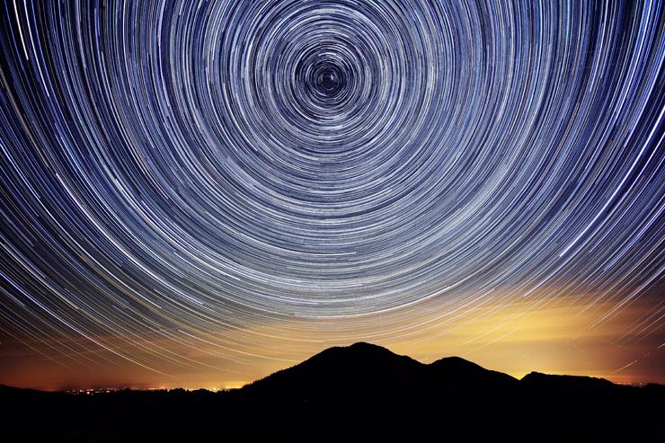 Sternspuren über der Notkarspitze