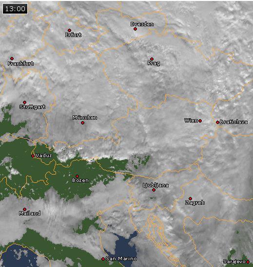 Satellitenbild gestern Mittag