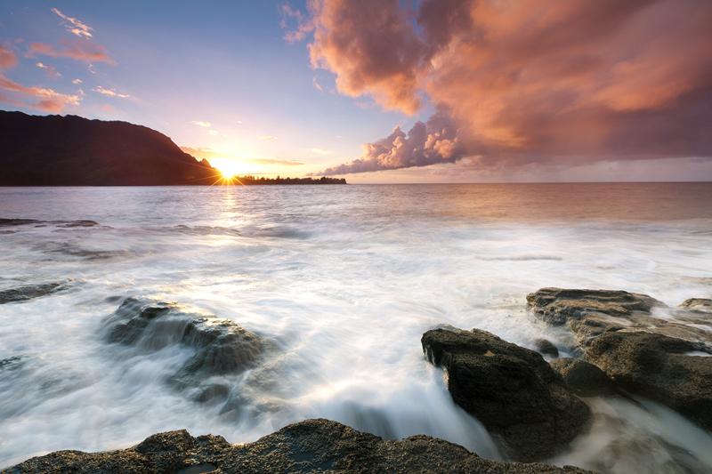 Sonnenuntergang an der Nordküste