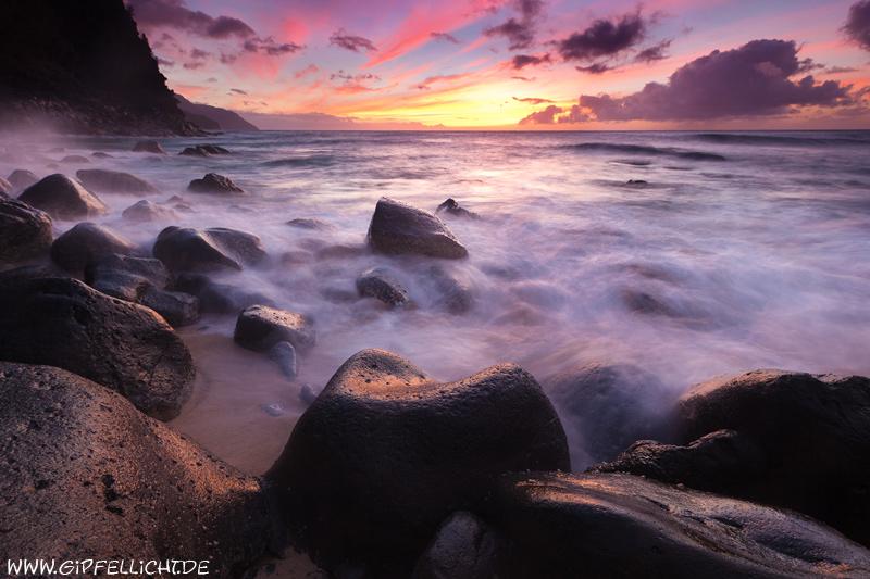 Sonnenuntergang an der NaPali Küste