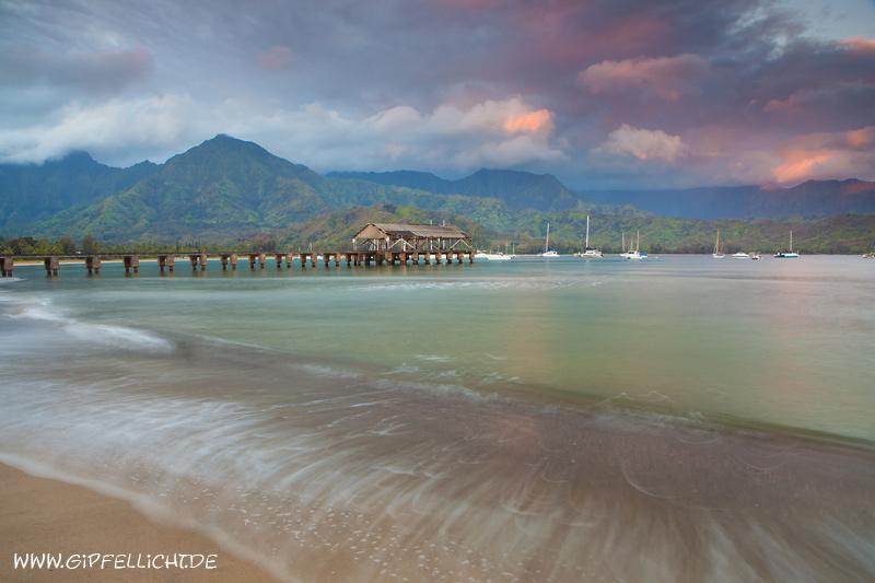 Pier bei der Bucht von Hanalei