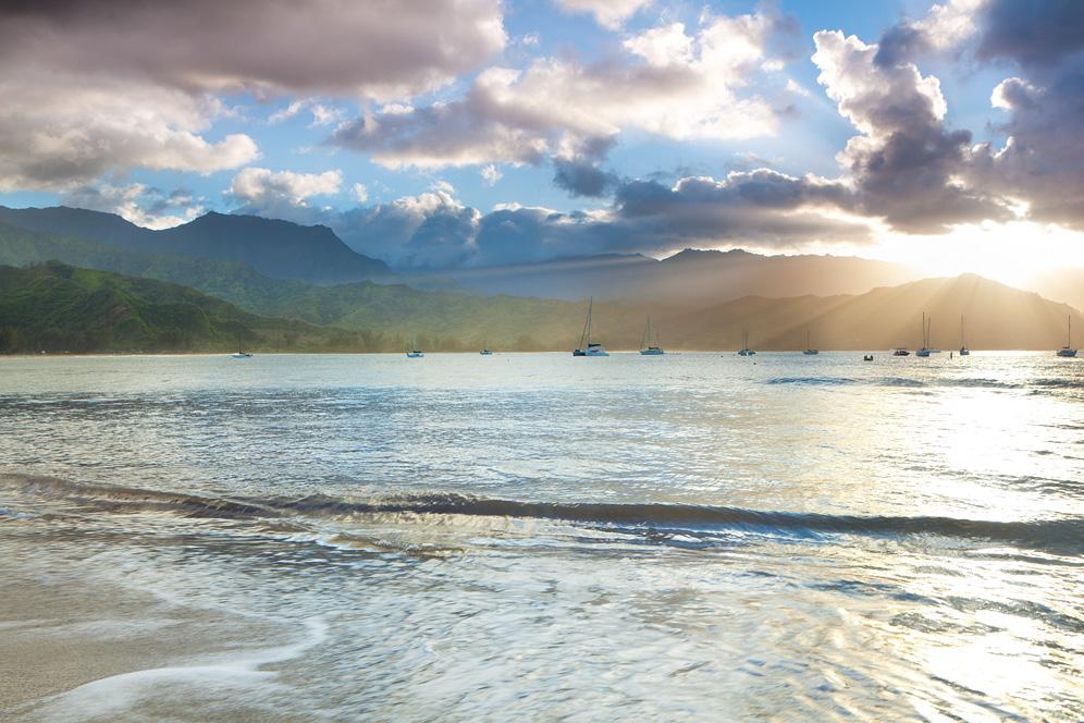 Die Bucht von Hanalei
