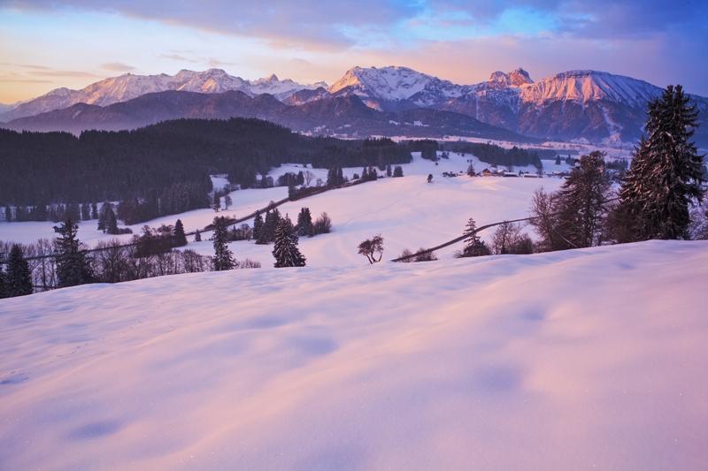 Blick in die Tannheimer Berge