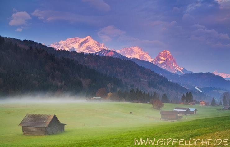 Die Berge glühen