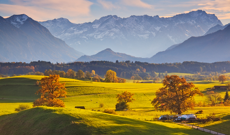 Goldener Herbst im Blauen Land