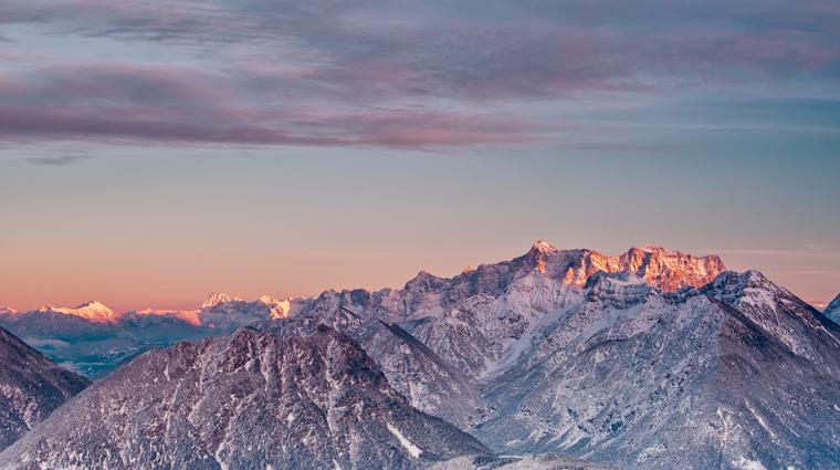 Das letzte Licht auf den Gipfeln